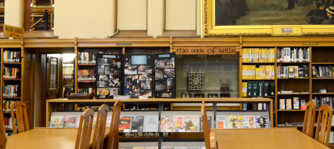 Book of Kells in the Hackley Public Library